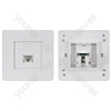 Network RJ-45 Keystone Faceplate, Single Outlet