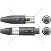 NEUTRIK NC3FM-C 3-pin unisex XLR cable connector