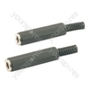 JL1099B 3.5mm stereo in-line socket, plastic