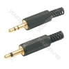 3.5mm stereo, gold plated