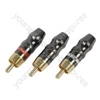 Gold plated RCA phono plug, - black