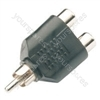 WE11127 Splitter RCA plug to 2 x RCA sockets