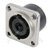 NEUTRIK NL8MPR, 8-pin Speakon square chassis socket