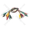 10 x test lead set, 5 colours, 25mm clip