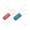 Crimp terminal, ring, 1.5 - 2.5mmØ cable, Blue, 4.3mm