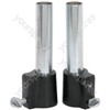 Heavy Duty 35mm to 25mm speaker pole adaptors (pair)