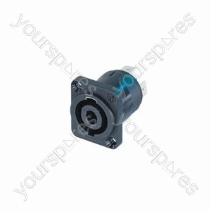 NEUTRIK NL4MPUC, 4-pin speakon square chassis socket, 40A
