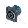 NEUTRIK NL2MP, 2-pin speakon square chassis socket