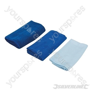 Microfibre Cloth Cleaning Set 3pce - 400 x 400mm