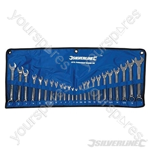 Combination Spanner Set 24pce - 6-22mm &amp; 1/4-1&quot;
