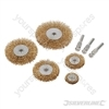 Wire Wheel Set 5pce - 6mm Shank