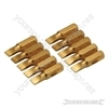 Slotted Gold Screwdriver Bits 10pk - 5mm