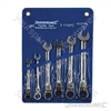 Flexible Head Ratchet Spanner Set 6pce - 8-17mm