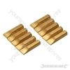 Slotted Gold Screwdriver Bits 10pk - 7mm