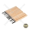 12pce Wood Carving Set Display Box 24pce - 135mm