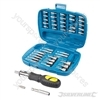 Ratchet Driver Bit &amp; Socket Set 45pce - 45pce