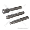 "SDS Plus Socket Driver Set 3pce - 1/4"", 3/8"" & 1/2"""