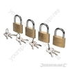 Keyed Alike Padlocks Set 4pce - 40mm