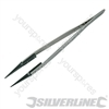 Anti-Static Tweezers - 2mm Rounded Tip