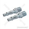 "Air Line Bayonet Male Thread Coupler 2pk - 6mm (1/4"") BSP"