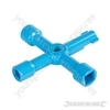 4-Way Utilities Key - 70 x 70mm