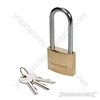 Brass Padlock Long Shackle - 38mm