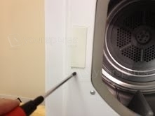 Door lock cover plate removal 1